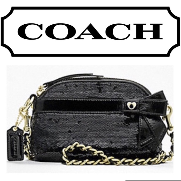 Coach Handbags - Coach Poppy Sequins Mini Gem black Crossbody